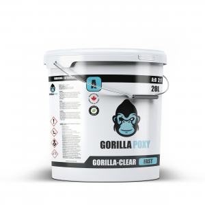 bucket of gorilla poxy gorilla clear epoxy product
